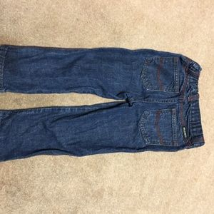 Wrangler Bottoms - WRANGLER 5T Jeans with red and tan stitching